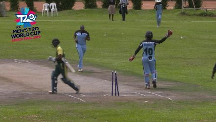 Men's T20WCQ Africa Final: Botswana v Nigeria – Unique run-up of Mmoloki Mooketsi