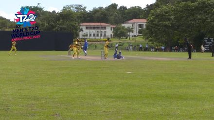 Men's T20WCQ Africa Final: Namibia v Uganda – Christi Viljoen run-out