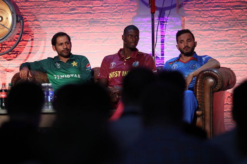 Sarfaraz Ahmed, Jason Holder & Gulbadin Naib, ICC Captain's Media Day, May 23 2019