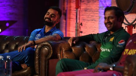 Virat Kohli and Mashrafe Mortaza, ICC Captain's Media Day, May 23 2019