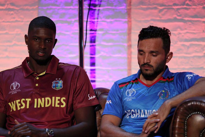 Jason Holder and Gulbadin Naib, ICC Captain's Media Day, May 23 2019