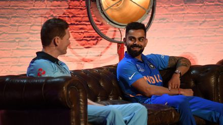 Eoin Morgan and Virat Kohli, ICC Captain's Media Day, May 23 2019