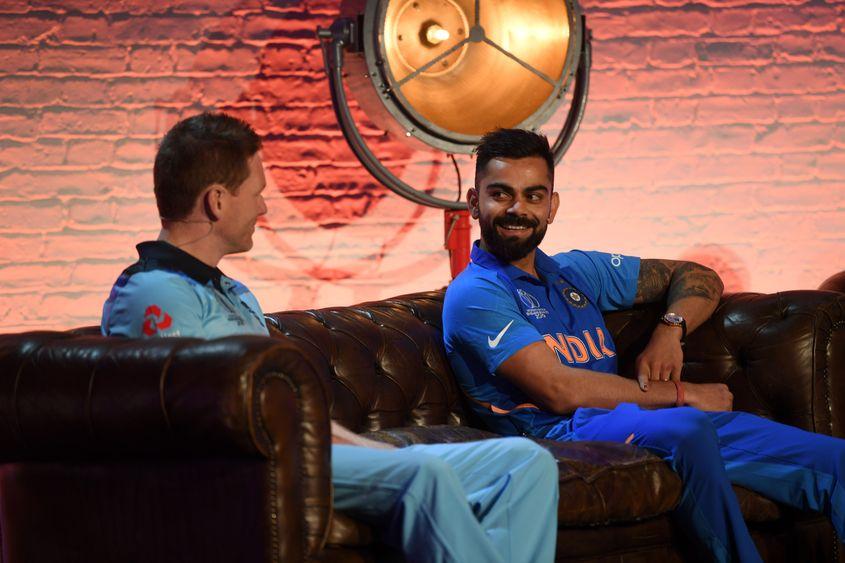 Eoin Morgan and Virat Kohli, ICC Captain's Media Day, May 23 2019