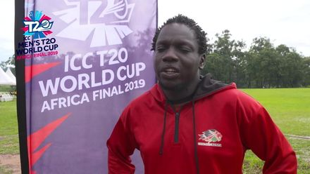 Men's T20WCQ Africa Final, Botswana v Kenya - Kenya captain Shem Ngoche reacts to abandoned match