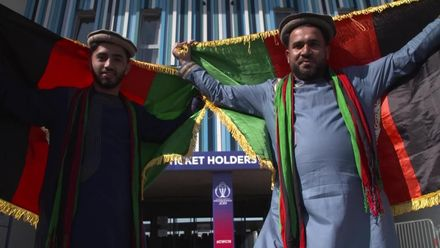 CWC19 warm-up: Pakistan v Afghanistan – Afghanistan fans celebrate
