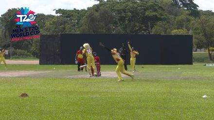 Men's T20WCQ Africa Final: Uganda v Ghana – Henry Ssenyondo takes 3/14 against Ghana