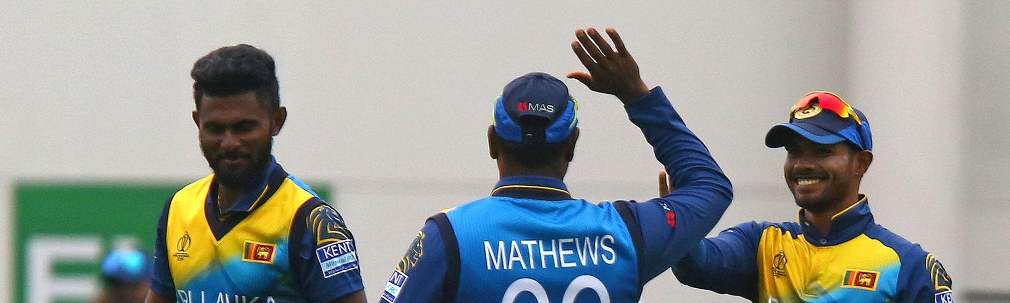 Udana celebrates a wicket