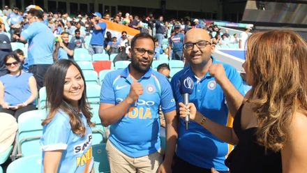 CWC19 WU4: Ind v NZ – Ridhima Pathak interacts with India fans