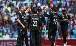 New Zealand celebrate Pandya wicket