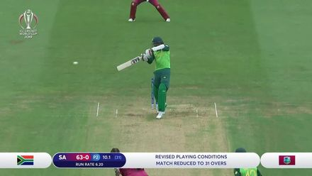 CWC19 WU5: South Africa v West Indies - Amla's silky 50