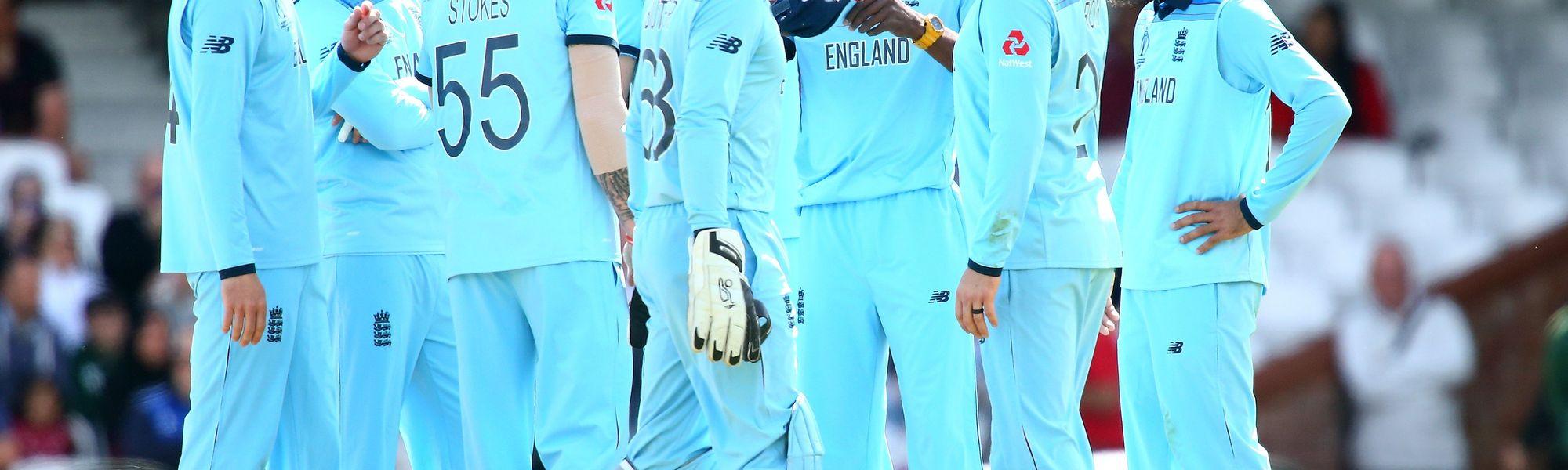 England celebrate against Afghanistan