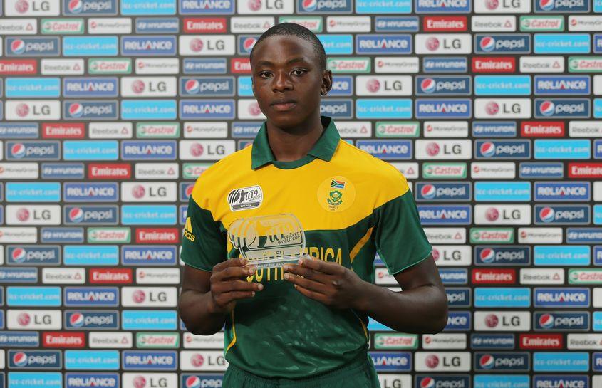 Kagiso Rabada during the 2014 ICC Under 19 World Cup