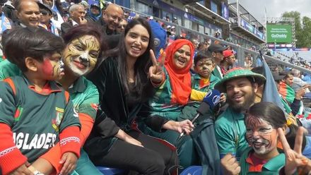 CWC19 W10: Ban v Ind – This family made a 7-hour return journey to be here!