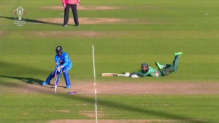 CWC19 WU10: Ban v Ind – Chahal has Mehedi run out for 27