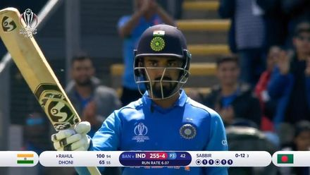 CWC19 WU10: Ban v Ind – Rahul makes a statement with his 98-ball 108