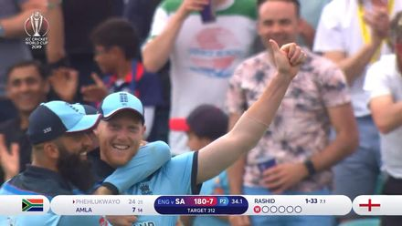 CWC19: Eng v SA – South Africa fall of wickets