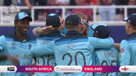 CWC19: Eng v SA – Tahir becomes the tenth scalp as England start with a win