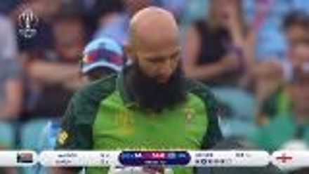 CWC19: Eng v SA – Amla walks off after Archer's bouncer smashes into his grille