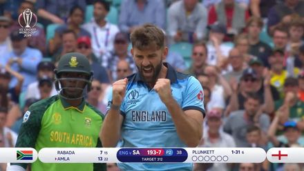 CWC19: Eng v SA – Plunkett ends Amla's day of misery