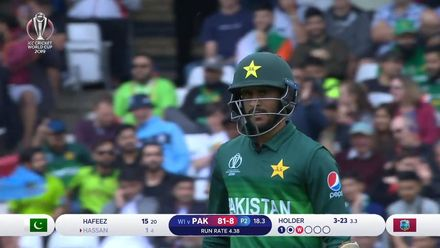 CWC19: WI v Pak – Holder gets his third as Hassan departs for 1