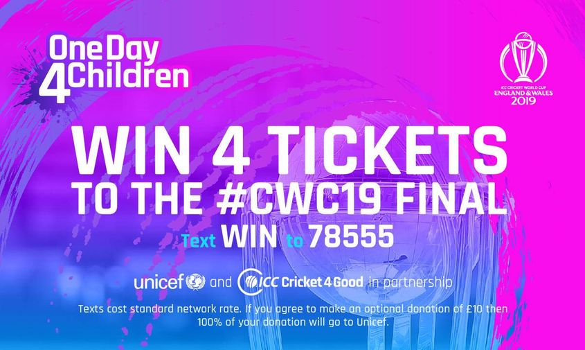 Win tickets to #CWC19 final