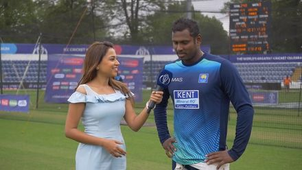 CWC19: NZ v SL – Ridhima chats with Angelo Mathews ahead of the game