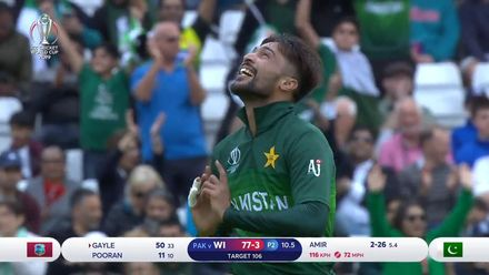 CWC19: WI v Pak – Amir's dream comeback continues as Gayle falls for 50