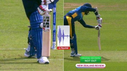 CWC19: NZ v SL - Henry strikes with the second ball of the match following a review