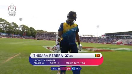 CWC19: NZ v SL - Perera holes out to Boult in the deep