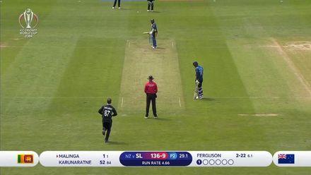 CWC19: NZ v SL - Malinga falls as Sri Lanka collapse to 136 all out