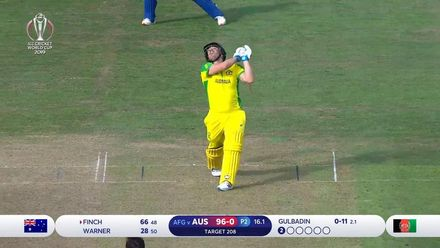 CWC19: AFG v AUS - Finch holes out for 66