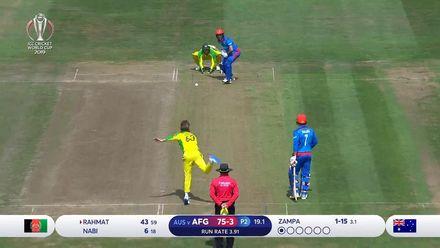 CWC19: AFG v AUS - Zampa bowling highlights