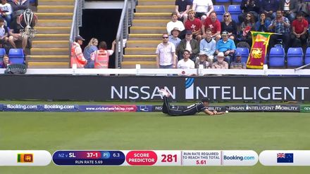 CWC19: NZ v SL - Excellent fielding on the boundary from Boult
