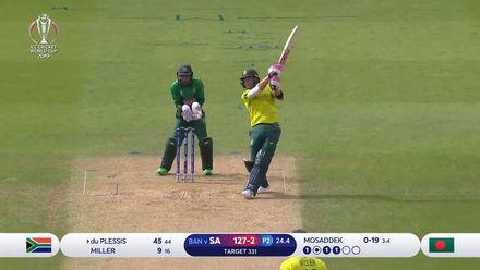 CWC19: SA v BAN - Du Plessis' powerful 62