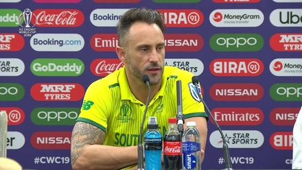 CWC 2019: SA v BAN - Du Plessis 'extremely disappointed'