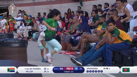 CWC19: SA v BAN - Young Bangladesh fan shows off her moves
