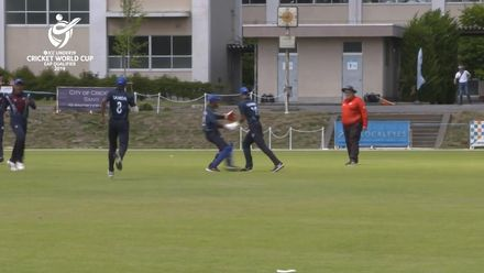 ICC U19 CWC EAP Qualifier: Samoa v Fiji, John Niutua's double-wicket over