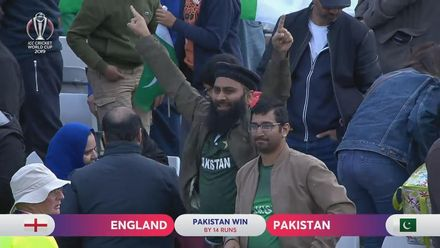 CWC19: Eng v Pak - Pakistan fans celebrate their team's win