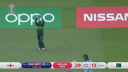 CWC19: Eng v Pak - Two wickets in two balls for Wahab as Woakes is caught behind