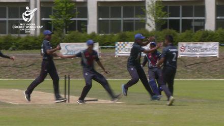 ICC U19 CWC EAP Qualifier: Samoa v Fiji, Joela Tamani run out
