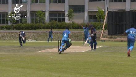 ICC U19 CWC EAP Qualifier: Samoa v Fiji, Bismarck Leuu run out