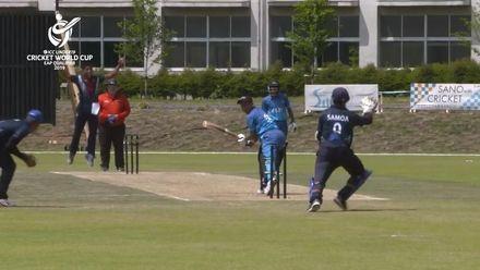 ICC U19 CWC EAP Qualifier: Samoa v Fiji, Lester Evile's 3/3