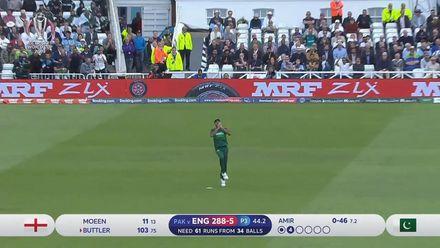 CWC19: Eng v Pak - Jos Buttler caught at short third man off Mohammad Amir