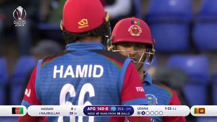 CWC19: AFG v SL - Afghanistan innings highlights