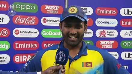 CWC19: AFG v SL - Flash interview with Thisara Perera