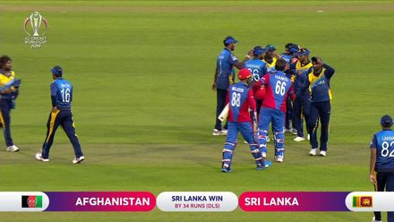 CWC19: AFG v SL - Malinga wins it for Sri Lanka