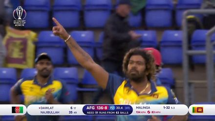 CWC19: AFG v SL - Malinga with the perfect yorker