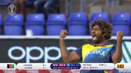 CWC19: AFG v SL - Malinga's bowling highlights