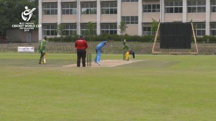 ICC U19 CWC EAP Qualifier: Fiji v Vanuatu, Ledua Gauna takes 4/40