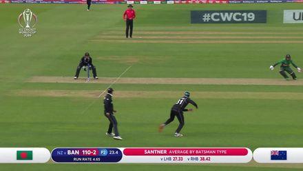 CWC19: BAN v NZ - First innings highlights